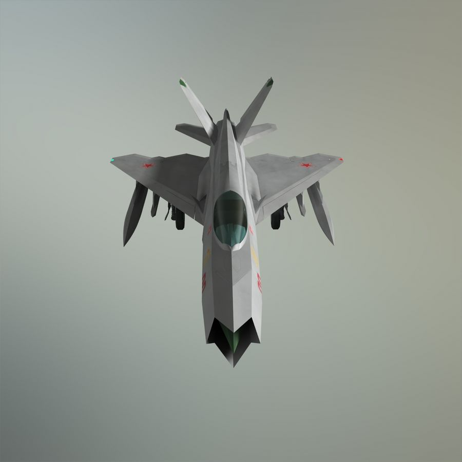 MIG-21Z-F Stealth-jager royalty-free 3d model - Preview no. 22