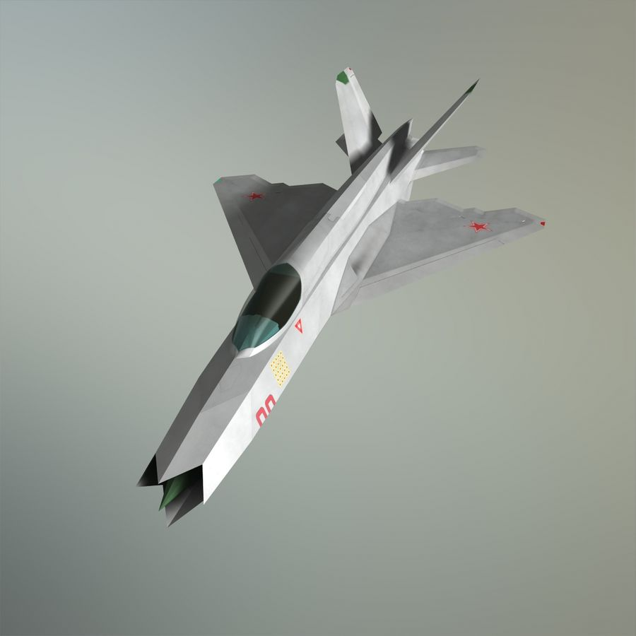 MIG-21Z-F Stealth-jager royalty-free 3d model - Preview no. 1