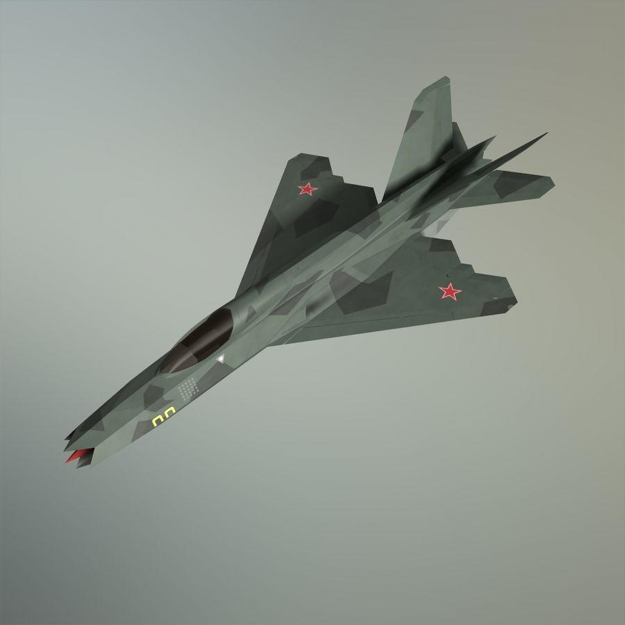 MIG-21Z-F Stealth-jager royalty-free 3d model - Preview no. 29
