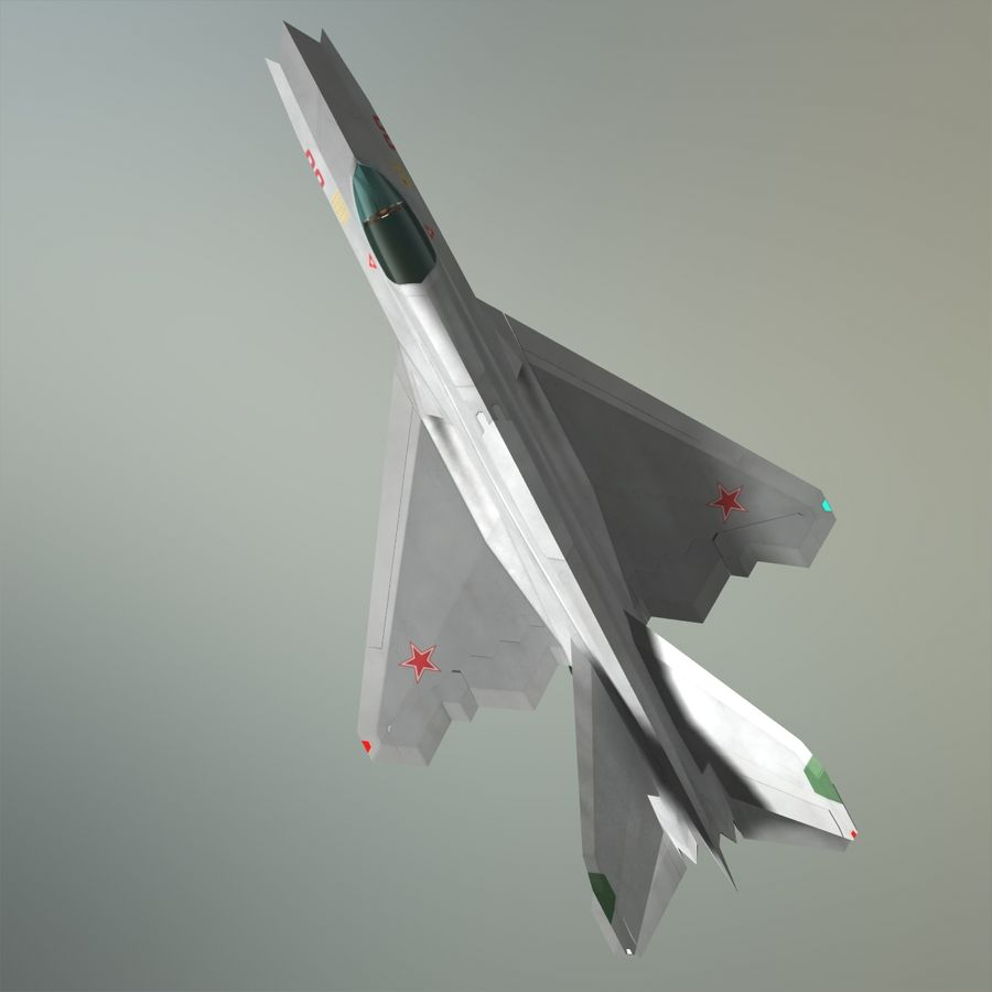 MIG-21Z-F Stealth-jager royalty-free 3d model - Preview no. 3