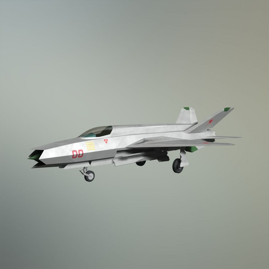 MIG-21Z-F Stealth-jager royalty-free 3d model - Preview no. 21