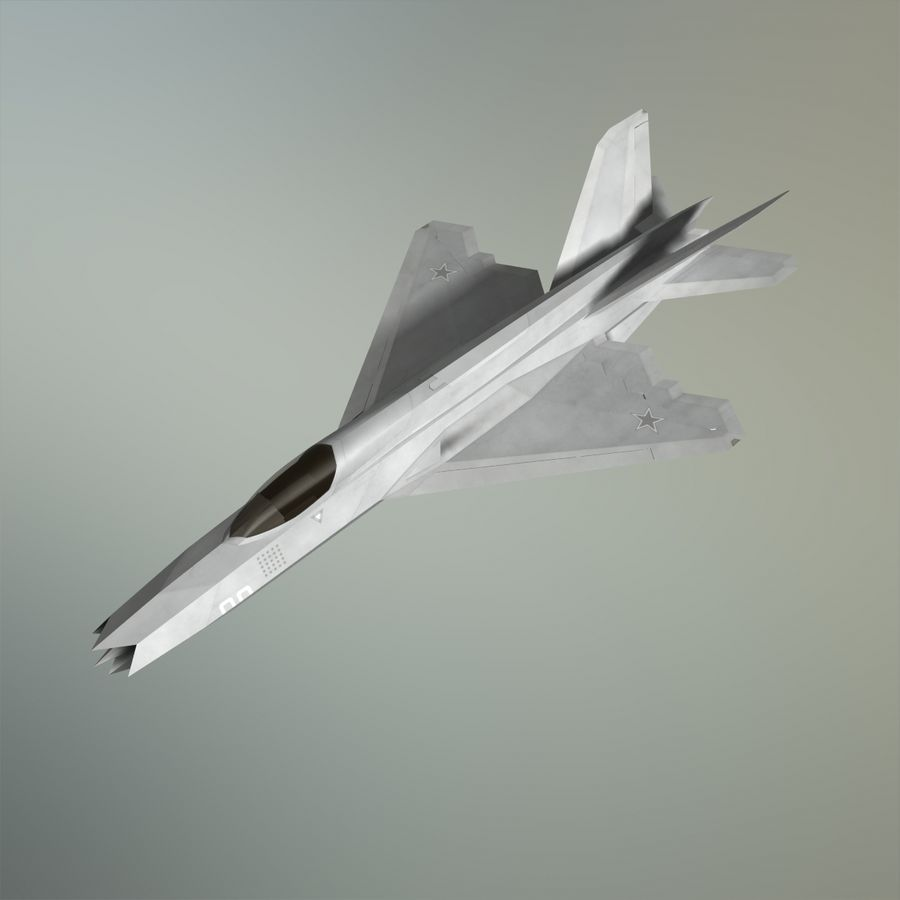 MIG-21Z-F Stealth-jager royalty-free 3d model - Preview no. 30
