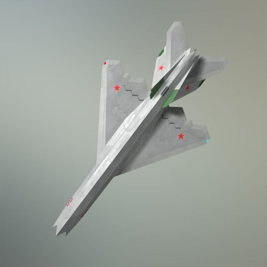 MIG-21Z-F Stealth-jager royalty-free 3d model - Preview no. 4
