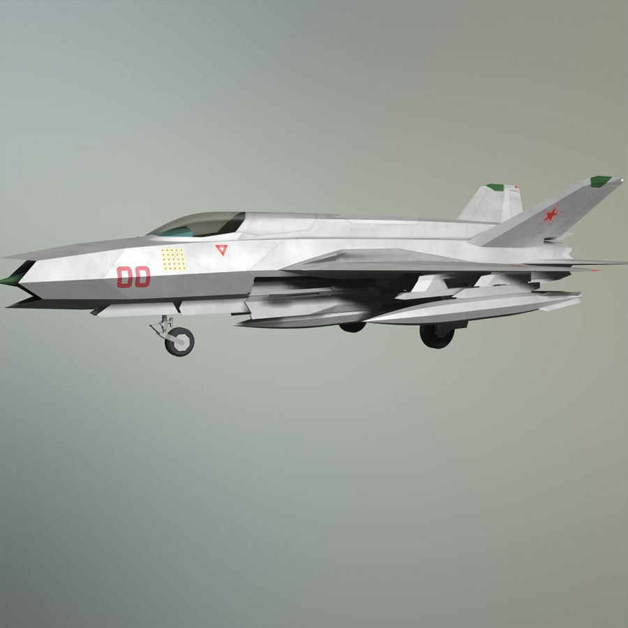 MIG-21Z-F Stealth-jager royalty-free 3d model - Preview no. 23