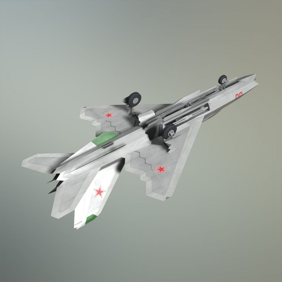 MIG-21Z-F Stealth-jager royalty-free 3d model - Preview no. 15