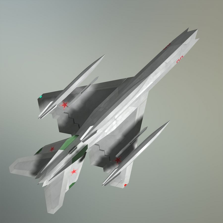 MIG-21Z-F Stealth-jager royalty-free 3d model - Preview no. 25
