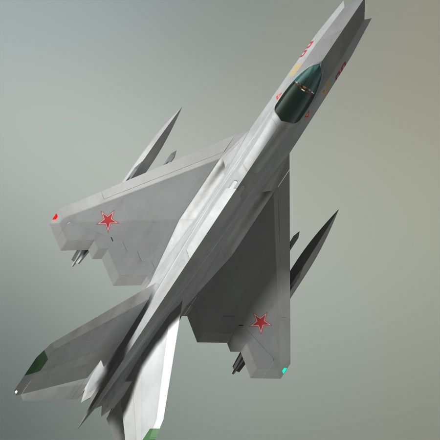 MIG-21Z-F Stealth-jager royalty-free 3d model - Preview no. 24