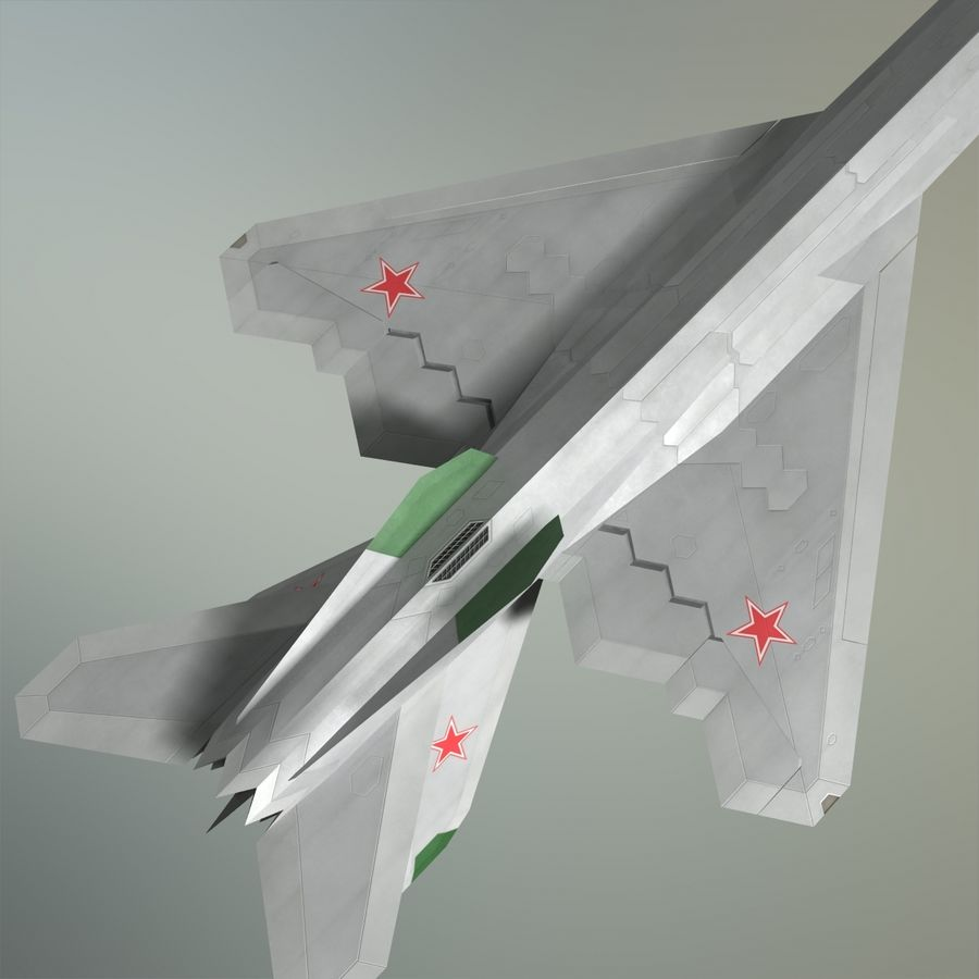 MIG-21Z-F Stealth-jager royalty-free 3d model - Preview no. 5