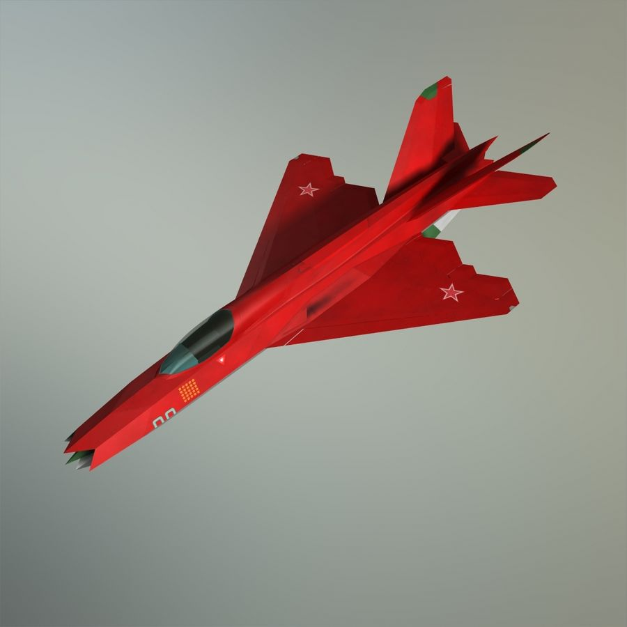 MIG-21Z-F Stealth-jager royalty-free 3d model - Preview no. 32