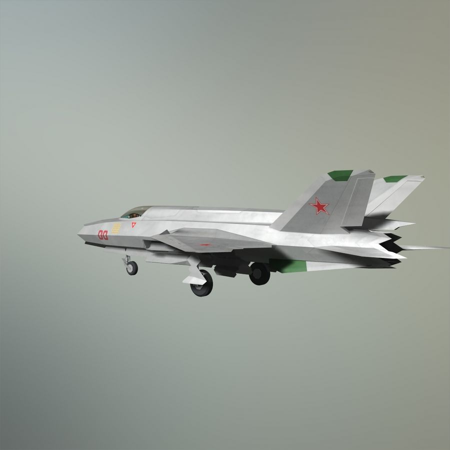MIG-21Z-F Stealth-jager royalty-free 3d model - Preview no. 20
