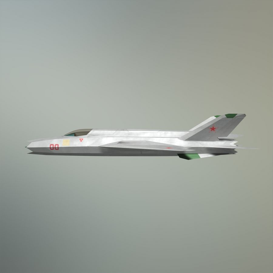 MIG-21Z-F Stealth-jager royalty-free 3d model - Preview no. 6