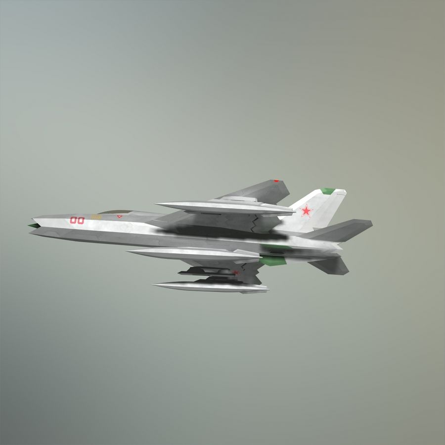 MIG-21Z-F Stealth-jager royalty-free 3d model - Preview no. 26