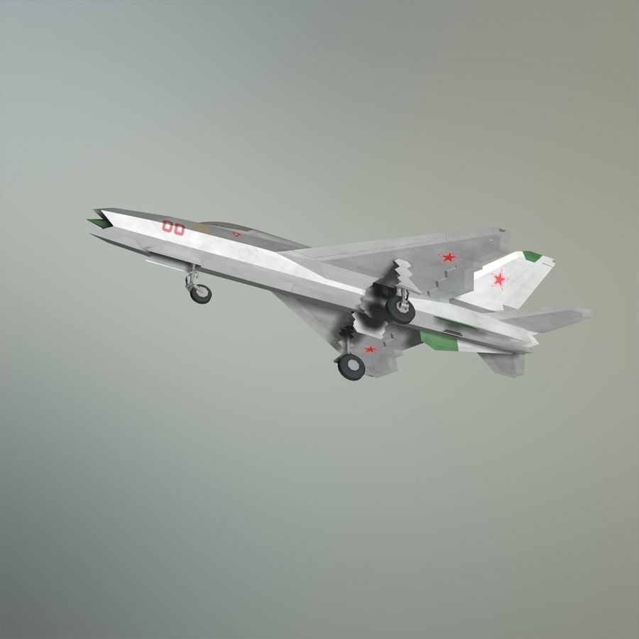 MIG-21Z-F Stealth-jager royalty-free 3d model - Preview no. 11
