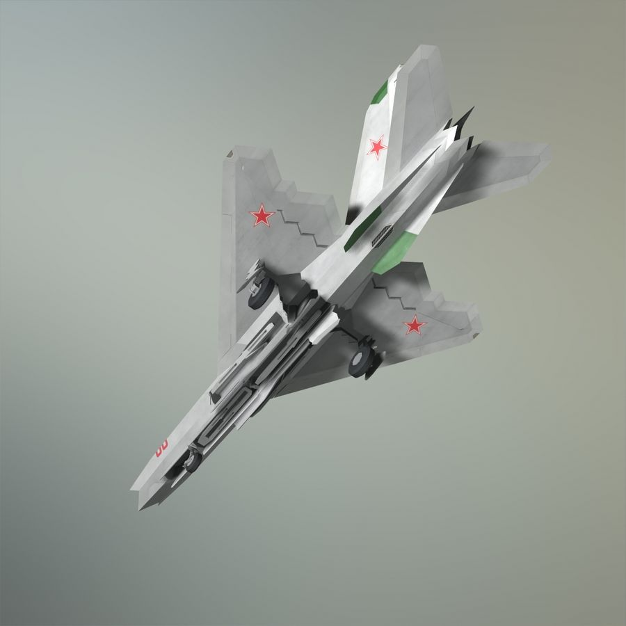 MIG-21Z-F Stealth-jager royalty-free 3d model - Preview no. 14