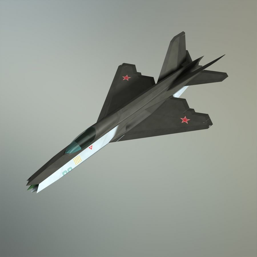 MIG-21Z-F Stealth-jager royalty-free 3d model - Preview no. 28