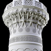 torre muqarnas modelo 3d