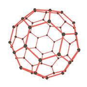 Struktura węgla fulerenowa 3d model