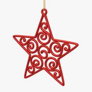 Star Ornament Red 3d model