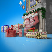 christmas gifts 3d model