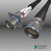 Conectores de aeronave - TE CeeLok FAS-X modelo 3d
