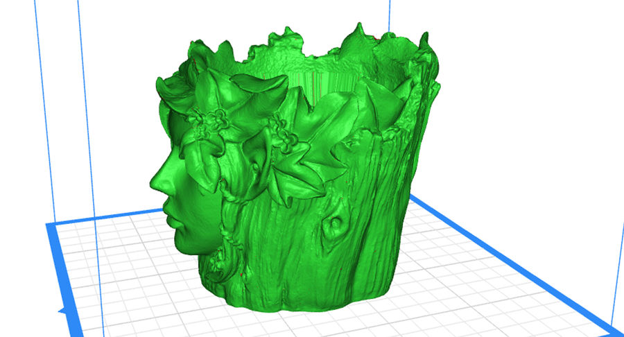 Plant Pot 3d Printed royalty-free 3d model - Preview no. 4