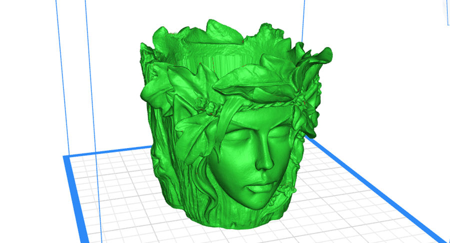 Plant Pot 3d Printed royalty-free 3d model - Preview no. 3