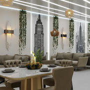 café restaurang interiör 3d model
