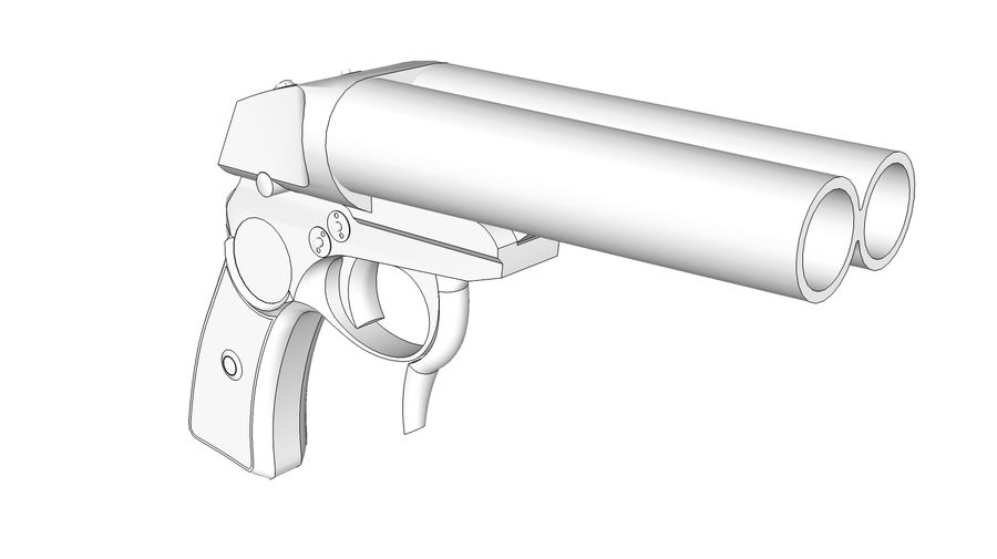 Pistolet royalty-free 3d model - Preview no. 11