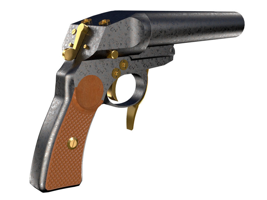Pistolet royalty-free 3d model - Preview no. 9
