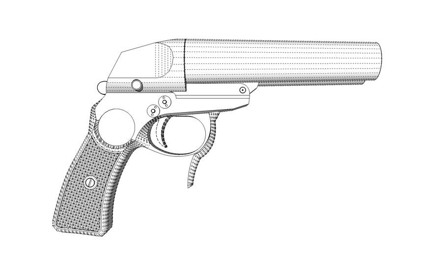 Pistolet royalty-free 3d model - Preview no. 13
