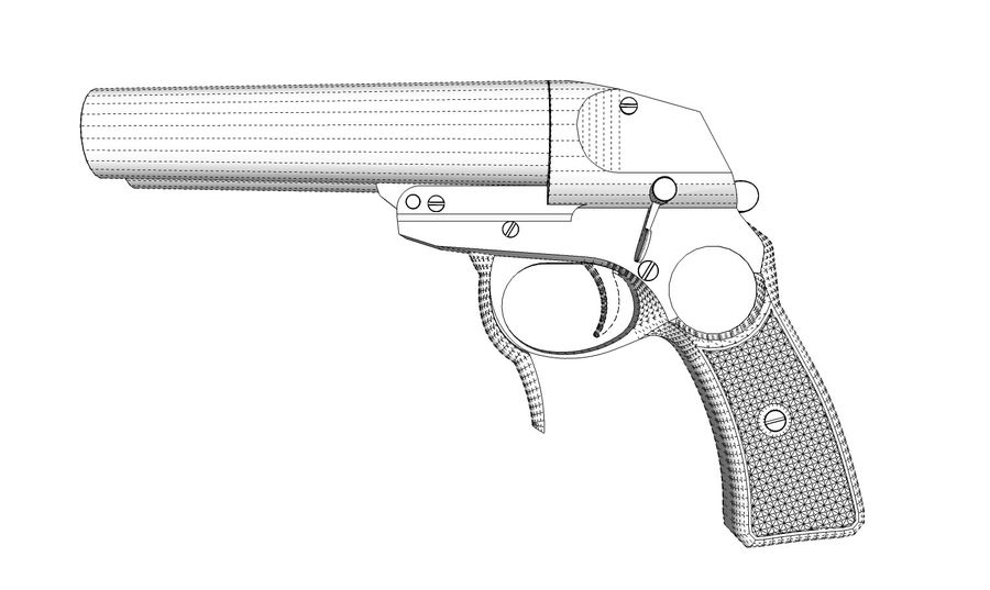 Pistolet royalty-free 3d model - Preview no. 16
