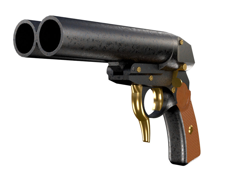 Pistolet royalty-free 3d model - Preview no. 5