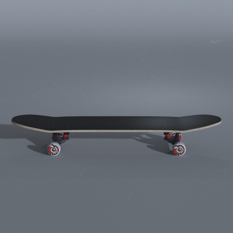 Skateboard with custom deck design royalty-free 3d model - Preview no. 7