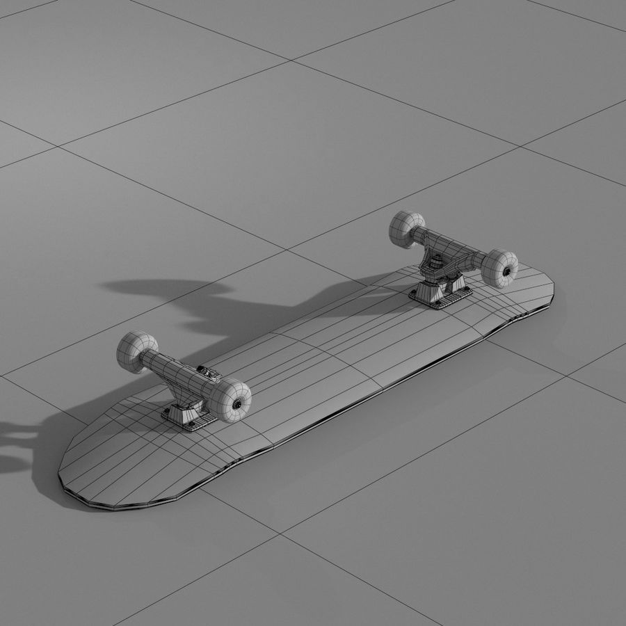 Skateboard with custom deck design royalty-free 3d model - Preview no. 5