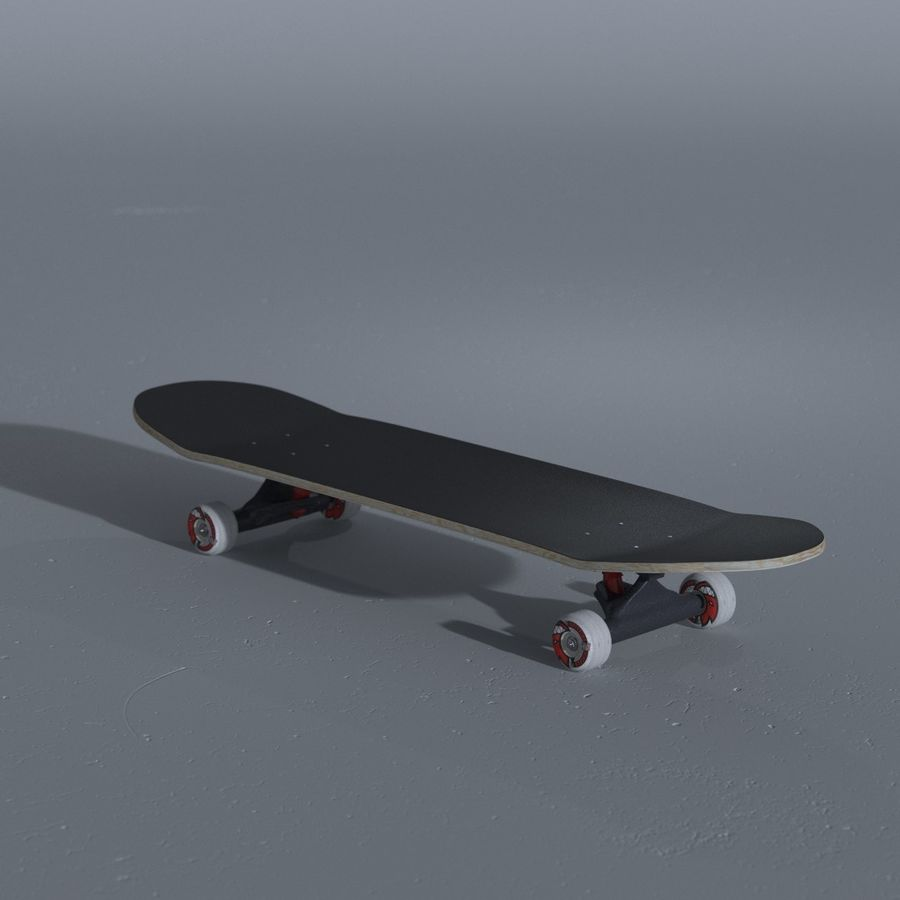 Skateboard with custom deck design royalty-free 3d model - Preview no. 6