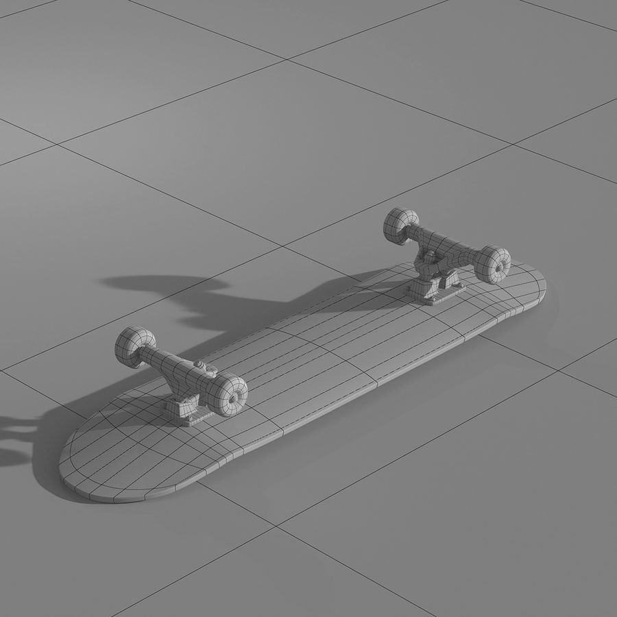 Skateboard with custom deck design royalty-free 3d model - Preview no. 4