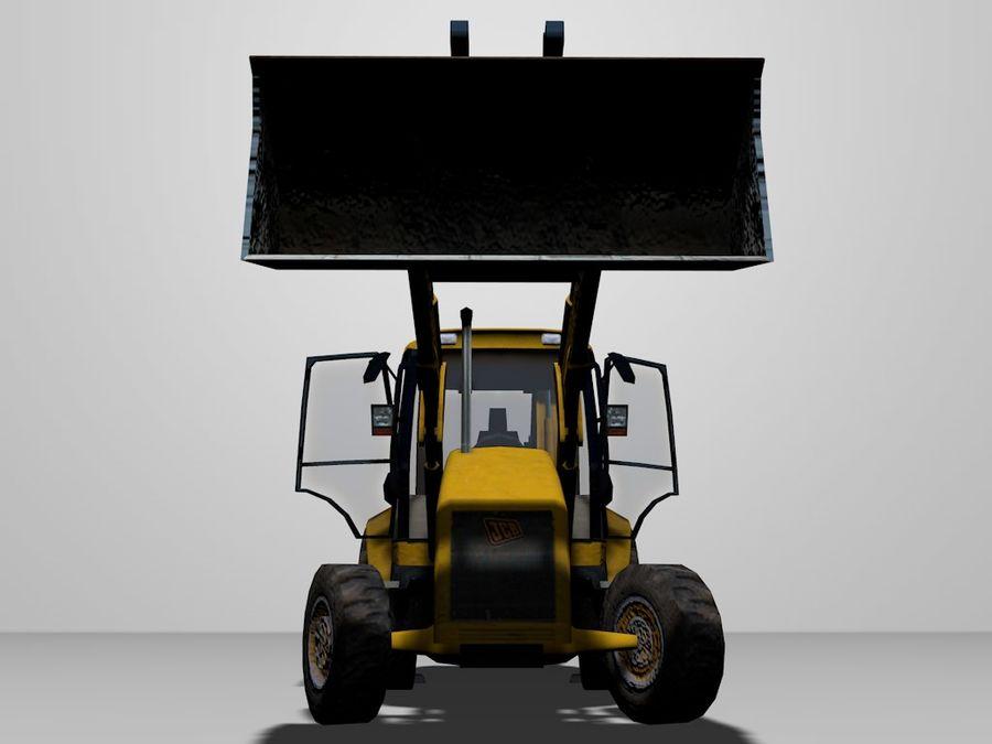 GAMLA grävmaskin royalty-free 3d model - Preview no. 4