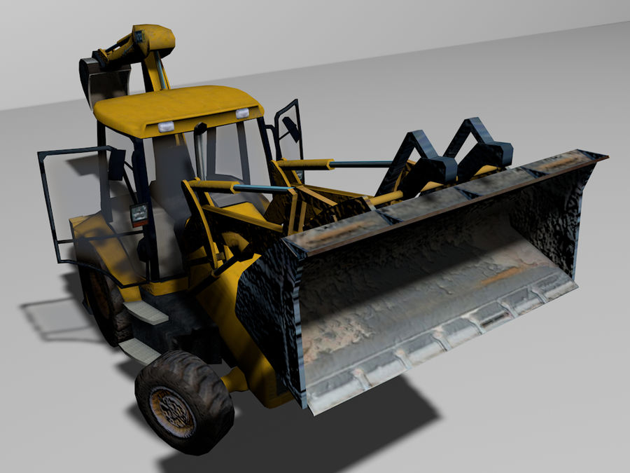 GAMLA grävmaskin royalty-free 3d model - Preview no. 2