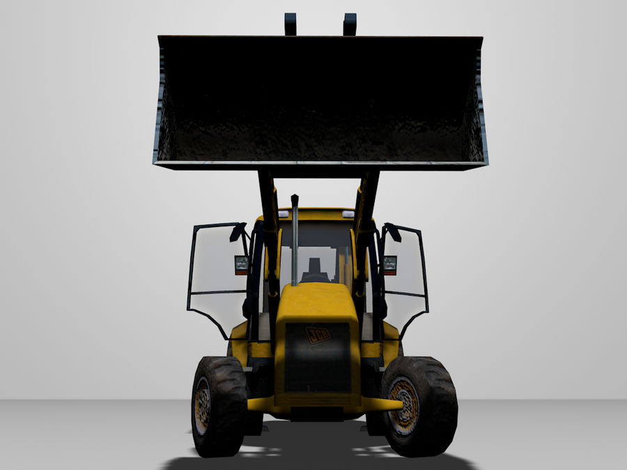GAMLA grävmaskin royalty-free 3d model - Preview no. 1