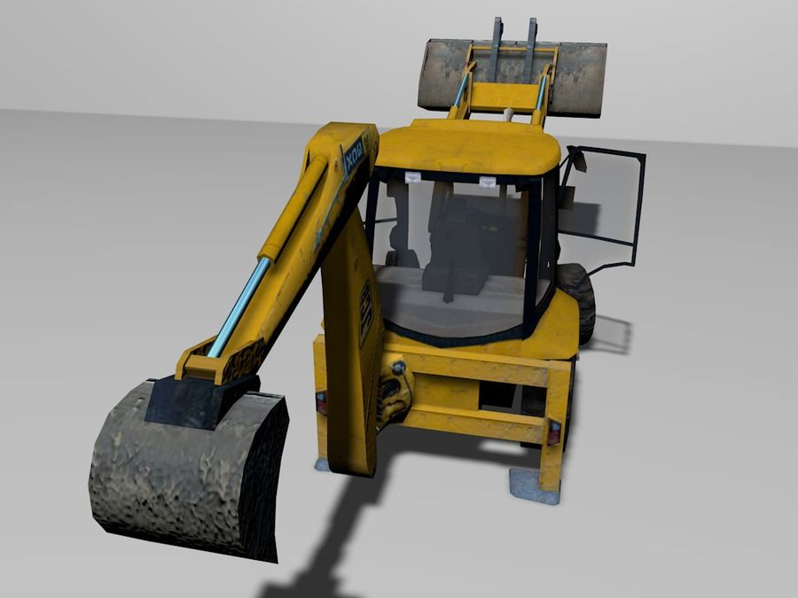 GAMLA grävmaskin royalty-free 3d model - Preview no. 5