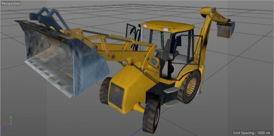 GAMLA grävmaskin royalty-free 3d model - Preview no. 7
