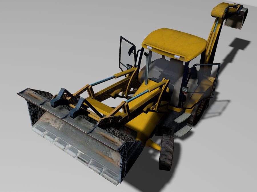GAMLA grävmaskin royalty-free 3d model - Preview no. 3