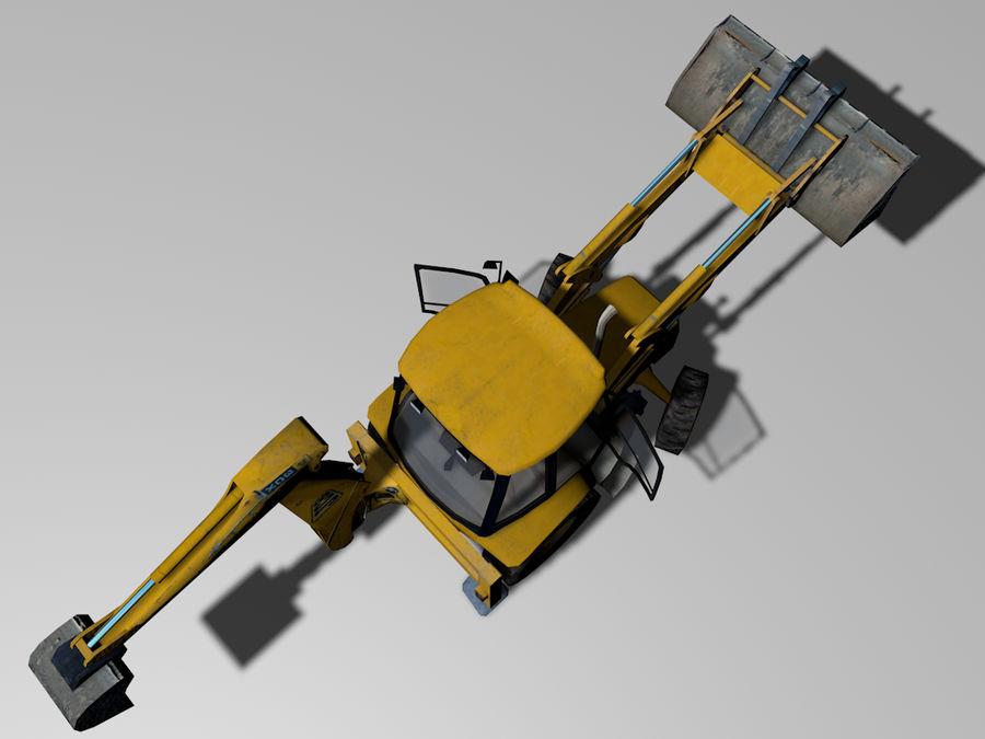 GAMLA grävmaskin royalty-free 3d model - Preview no. 6