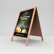 Restaurant board 3 3d model