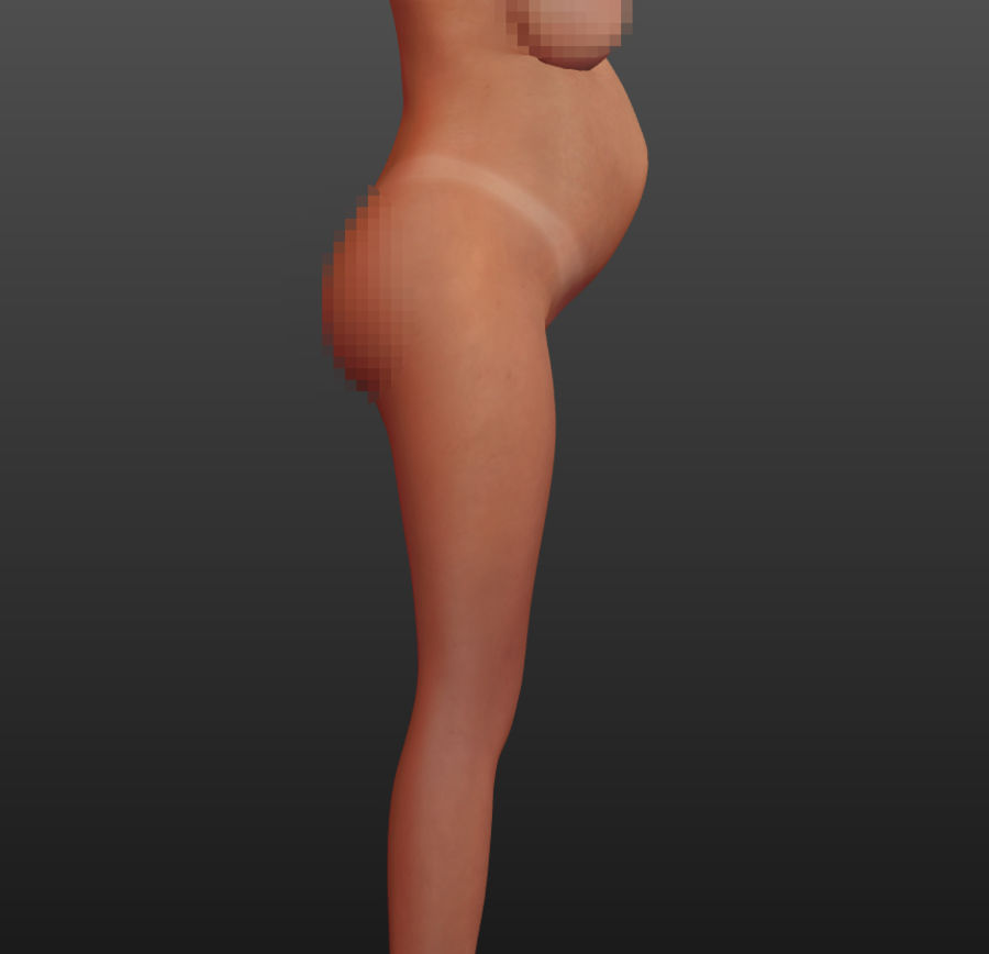 Femme enceinte truquée royalty-free 3d model - Preview no. 9