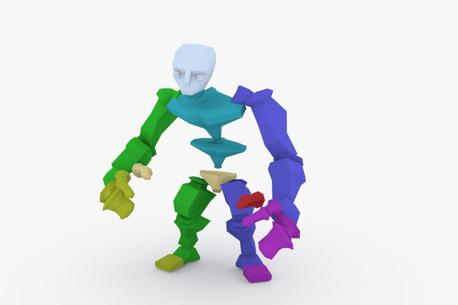 Animated Rigged Character Type F royalty-free 3d model - Preview no. 9