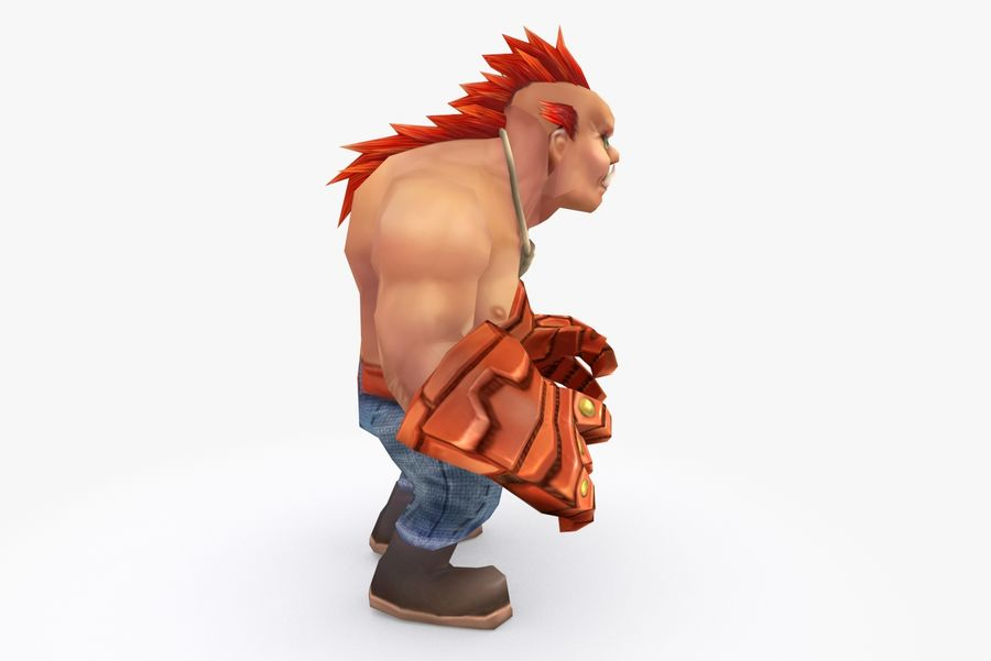 Animated Rigged Character Type F royalty-free 3d model - Preview no. 5