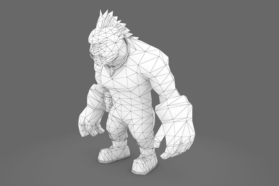 Animated Rigged Character Type F royalty-free 3d model - Preview no. 27