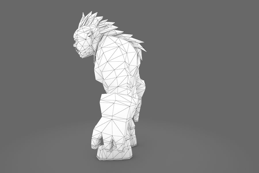 Animated Rigged Character Type F royalty-free 3d model - Preview no. 26