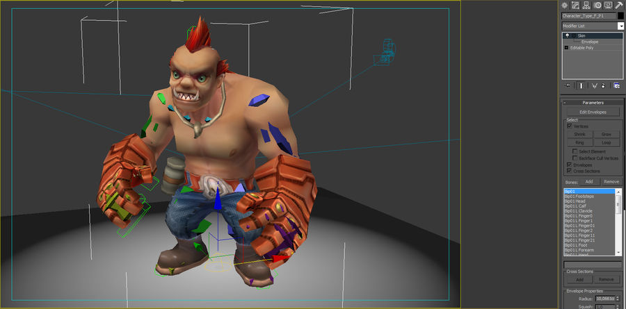 Animated Rigged Character Type F royalty-free 3d model - Preview no. 7